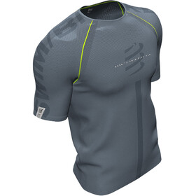 Compressport Training T-shirt manches courtes Born To SwimBikeRun 2020 Homme, grey